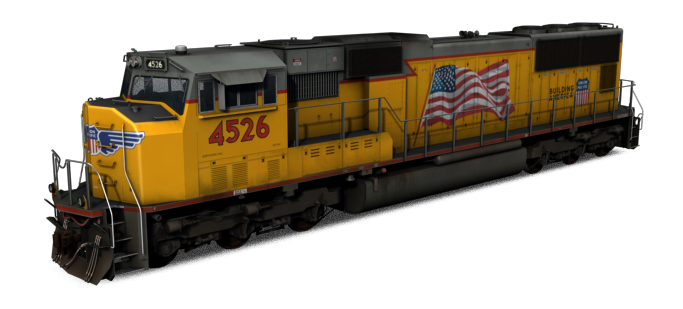 EMD SD70M - UP (Flag)